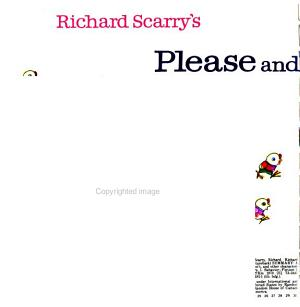 Richard Scarry s Please and Thank You Book