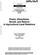 Power, Distortions, Revolt, and Reform in Agricultural Land Relations