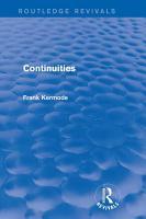 Continuities  Routledge Revivals  PDF