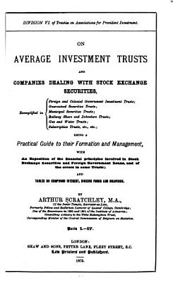 On Average Investment Trusts and Companies Dealing with Stock Exchange Securities PDF
