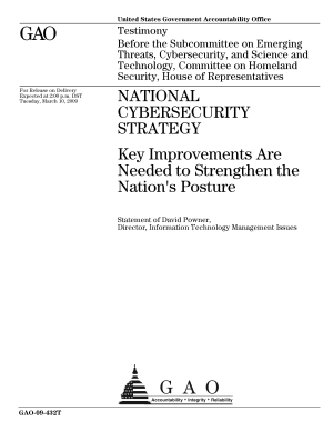 National Cybersecurity Strategy  Key Improvements are Needed to Strengthen the Nation s Posture PDF