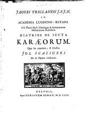 Diatribe de secta Karæorum