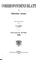 Jahrgang des Correspondenz-blattes für Schweizer Aerzte: Volume18