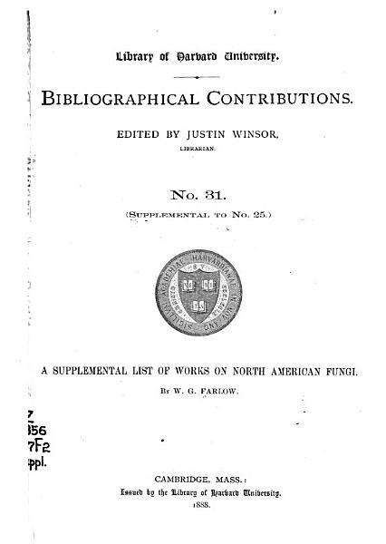 A Supplemental List of Works on North American Fungi PDF