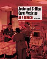 Acute and Critical Care Medicine at a Glance PDF