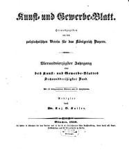 Kunst  und Gewerbeblatt des Polytechnischen Vereins f  r das K  nigreich Bayern PDF
