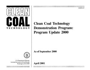 Clean Coal Technology Demonstration Program