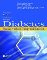 American Dietetic Association Guide to Diabetes Medical Nutrition Therapy and Education PDF