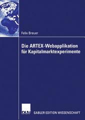 Die ARTEX-Webapplikation für Kapitalmarktexperimente