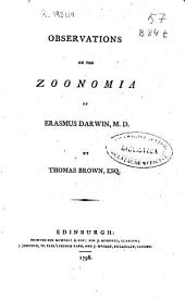 Observations on the zoonomia of Erasmus Darwin, M.D.
