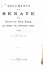 Documents of the Senate of the State of New York: Volume 5