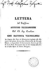 Lettera ... al ... cavaliere Gio. Battista Vermiglioli in risposta alle note ed illustrazioni aggiunte alle Memorie del pittore Bernardino Pinturicchio da lui pubblicate: Volume 3