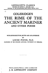 Coleridge's The Rime of the Ancient Mariner: And Other Poems
