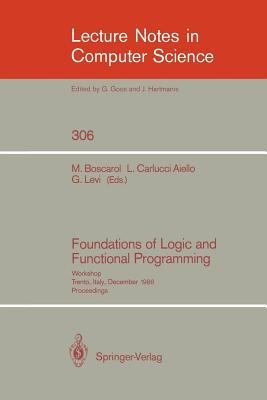 Foundations of Logic and Functional Programming PDF