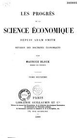 Les progrès dee la science économique depuis Adam Smith