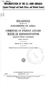 Implementation of the U S  Arms Embargo  Against Portugal and South Africa  and Related Issues  PDF
