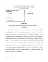 Panalpina  Inc   Securities and Exchange Commission Litigation Complaint PDF