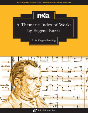 A Thematic Index of Works by Eugene Bozza