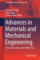 Advances in Materials and Mechanical Engineering PDF