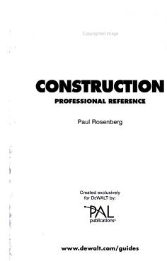 Construction Professional Reference PDF