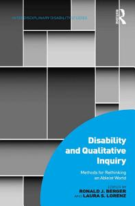 Disability and Qualitative Inquiry PDF
