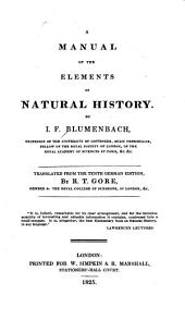 A Manual of the Elements of Natural History