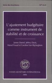 L ajustement budgétaire comme instrument de stabilité et de croissance