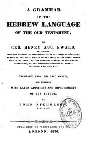 A Grammar of the Hebrew language of the Old Testament