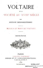 Voltaire et la société au xviii siècle: Retour et mort de Voltaire
