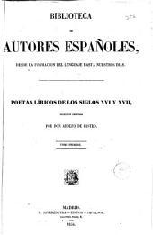 Poetas Liricos de los siglos XVI y XVII: poesias
