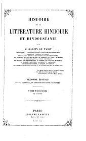 Histoire de la littérature hindoui et hindoustanie: Volume3