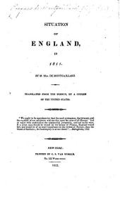 Situation of England in 1811. ... Translated from the French, by a Citizen of the United States