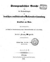 Stenographischer Bericht über die Verhandlungen der deutschen constituirenden Natinalversammlung zu Franckfurt am Main: Band 7