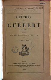 Lettres de Gerbert: 983 - 997