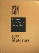 Libros Espa  oles en Venta 1993  vol   3    Materias PDF