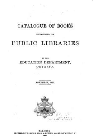 Catalogue of Books Recommended for Public Libraries PDF