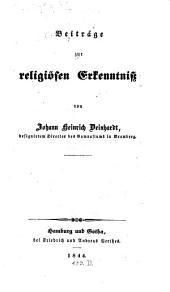 Beiträge zur religiösen erkenntniss
