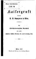 Kaisergruft bei den P  P  Kapuzinern in Wien PDF