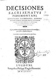Decisiones Sacri Senatus Pedemontani