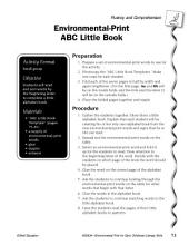 Environmental Print & Fluency/Comprehension: ABC Little Book
