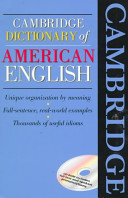 Cambridge Dictionary of American English Book and CD-ROM