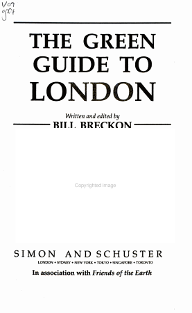 The Green Guide to London PDF