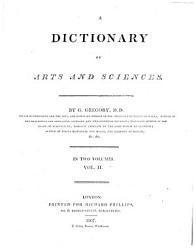 A Dictionary Of Arts And Sciences Book PDF