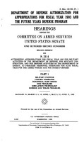 Department of Defense Authorization for Appropriations for Fiscal Year 1993 and the Future Years Defense Program PDF