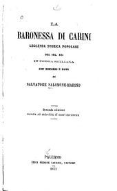 La baronessa di Carini: leggenda storica popolare del sec. XVI in poesia siciliana