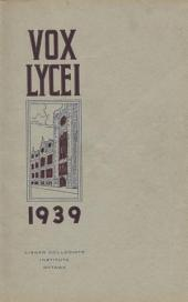 Vox Lycei 1938-1939
