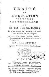 Traité de l'éducation corporelle des enfants en bas âge