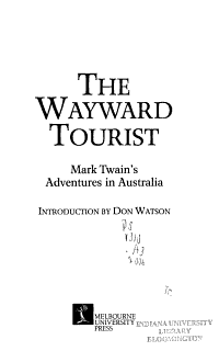 The Wayward Tourist