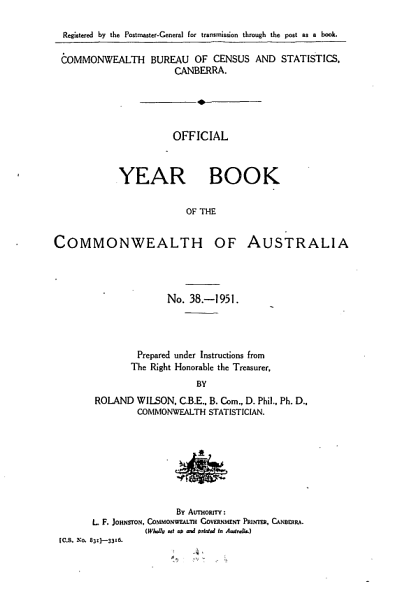 Download Official Year Book of the Commonwealth of Australia No  38   1951 Book