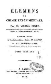 Eléments de chimie expérimentale: Volume2
